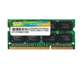 SILICON POWER SODIMM 8GO DDR3-1600 PC3-12800 Low Voltage 1.35V SP008GLSTU160N02 4712702631258