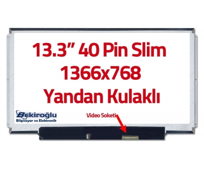 "LTN133AT16 13.3"" Ekran 40 Pin Slim Led Panel Yandan Kulaklı HD Sa"